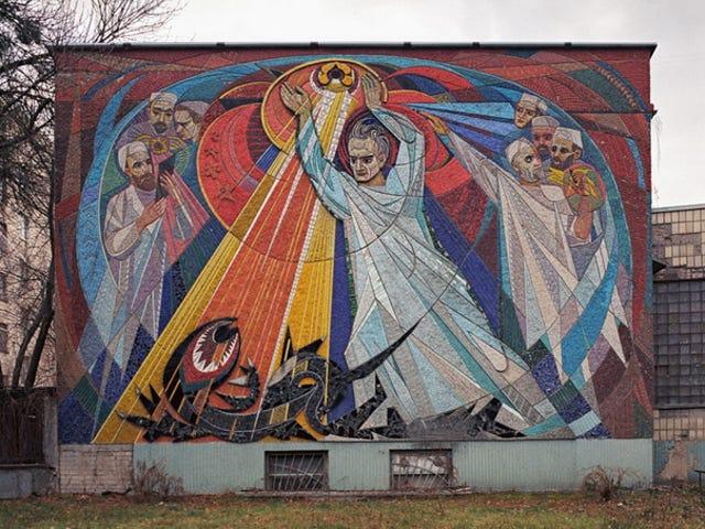 Kyiv Science and Cosmos-Themed Mosaics