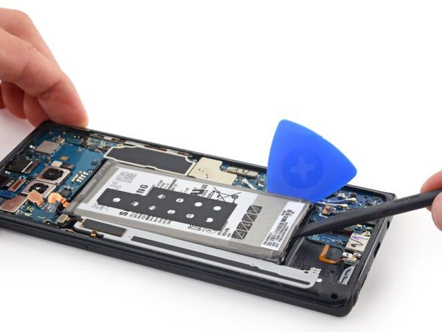 El despiece del Galaxy Note 8 bekræfter, at det er meget vigtigt, at du ser det godt ud Bemærk 7