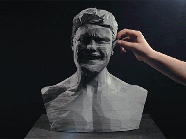 Trippy Video använder 3D-utskrift och Stop-Motion-animering för att skapa en statue Sing