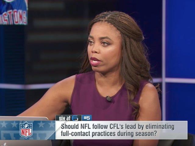 ESPN lægger en båndstøtte på hånden. Den skæres af