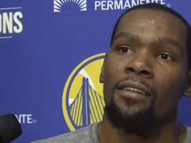 "Cameraman Threatens To Knock Other Cameraman ""The Fuck Out"" During Kevin Durant Interview"
