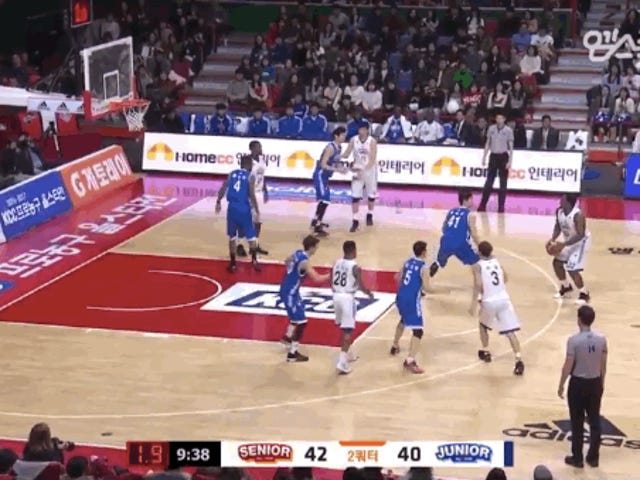 Liga Bola Basket Korea All-Stars Tarik Tantangan Mannequin Mid-Game yang rumit