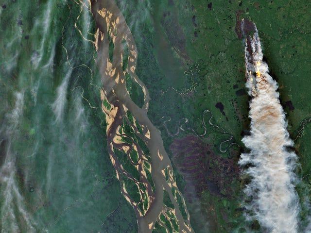 Imágenes por satélite muestran los terribles incendios que se están produciendo en pleno Ártico