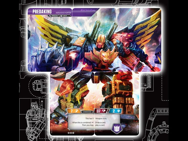 Five Transformers Trading Cards Combine To Form Predaking