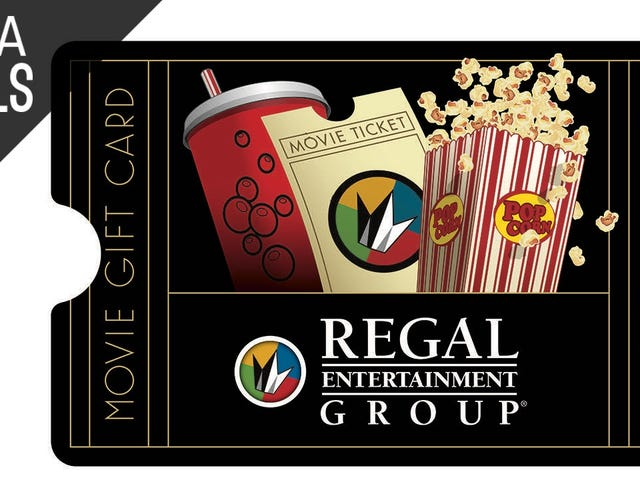 Save 20% on Your Next Movie Night With This Regal Cinemas Gift Card