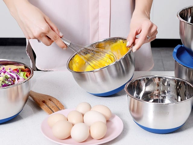 Upgrade to Stainless Steel Mixing Bowls For Just $23