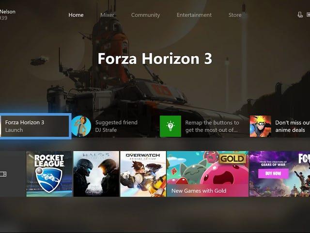 Met de volgende update van het Xbox One-dashboard kunnen spelers hun startscherm aanpassen <em></em>