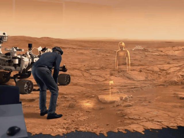 Como a NASA planeja explorar Marte com os óculos holográficos da Microsoft