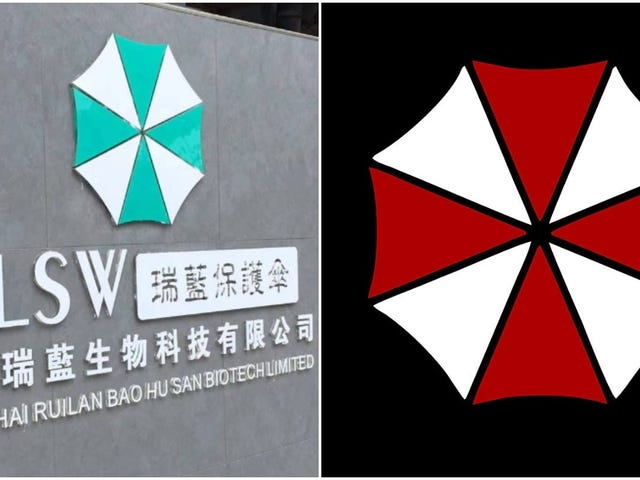 Os fãs chineses do mal residente acham que o logotipo da empresa biotecnológica parece familiar