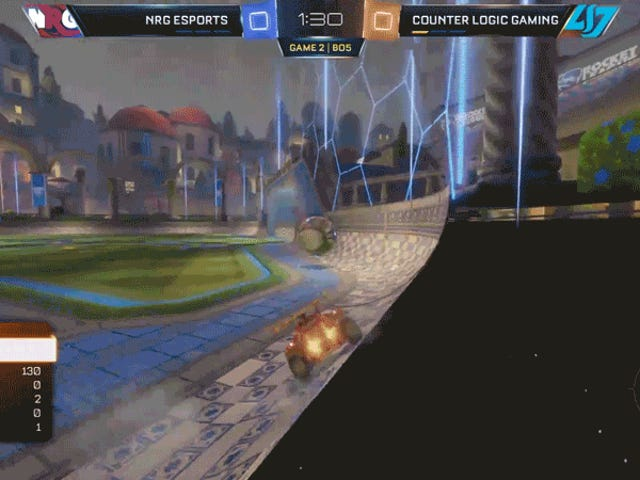 Well-Timed <i>Rocket League </i>Respawn Thwarts Goal Attempt