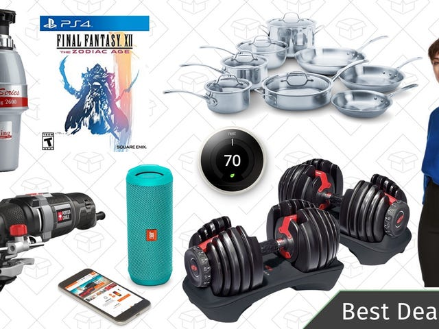 Wednesday's Best Deals: Bowflex Weights, JBL Speakers, Nest Thermostat, and More