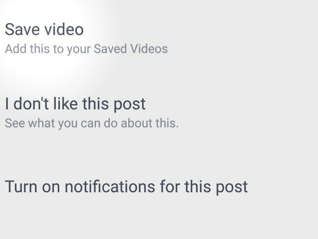 Facebook의 Android 앱으로 이제 오프라인보기 용으로 동영상 저장 가능