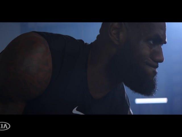 LeBron James Teasing His Custom 'King James' Stinger GT by Kia