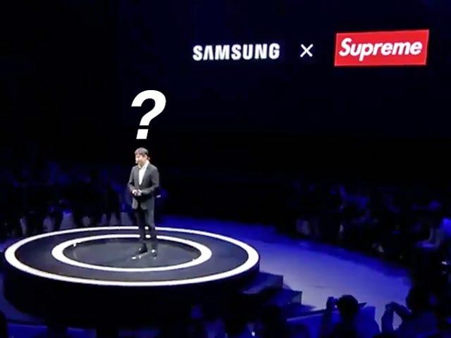 Η Samsung τώρα «επανεξετάζει» το αμφιλεγόμενο αυτό Collab με το ψεύτικο Supreme