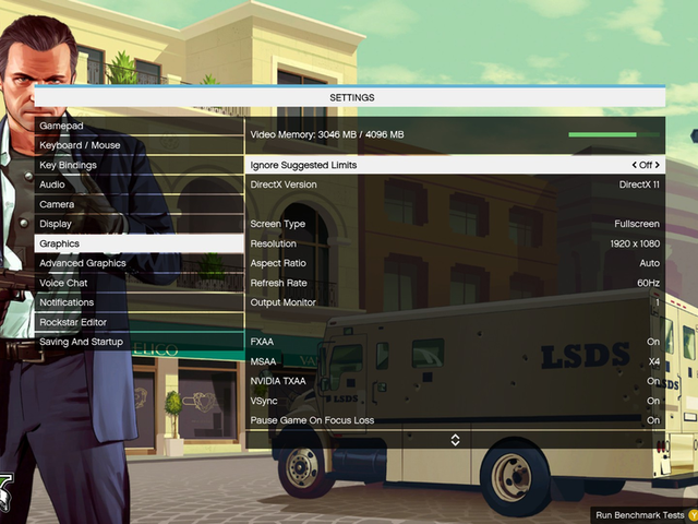 <i>GTA V </i>Sure Has A Lot Of PC Settings (Which Is Nice)