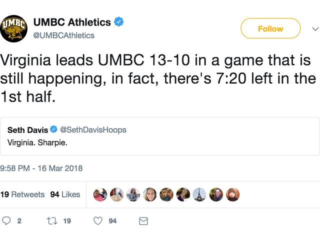UMBC's Twitter Account Is Last Night's Real Winner