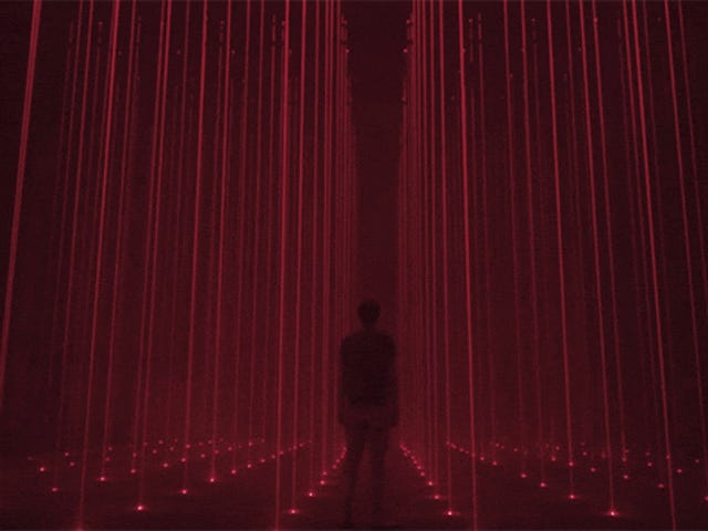Being Stuck Inside This Laser-Filled Room Would Be a Great Place to Lose Your Mind