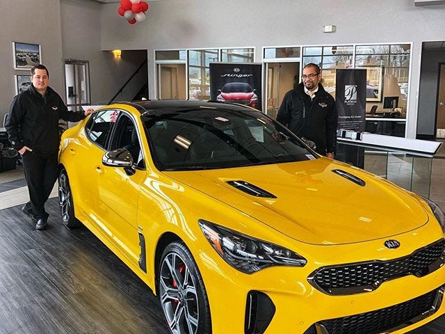 400 Sunset Yellow Kia Stingers Are Landing in US Dealerships Right Now