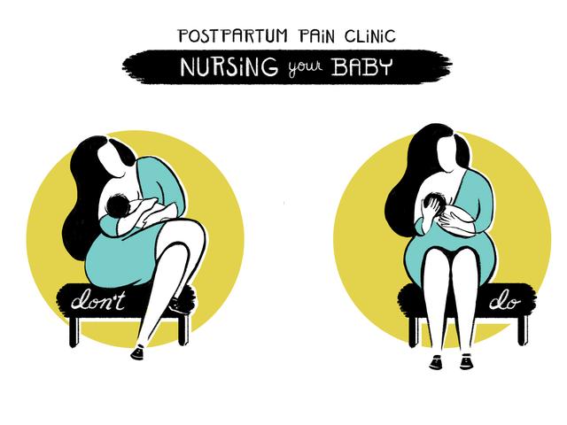 Wie man ein Baby ohne Rücken- und Nackenschmerzen pflegt