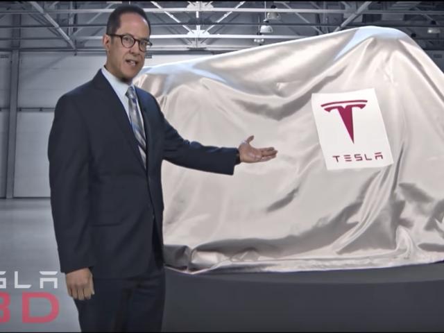 """Conan O'Brien paljastaa Teslan uusimman tuotteen pelastaakseen itsensä - Teslan """"TBD"""""""