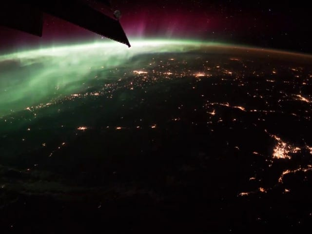 Flying Over the Earth at Night
