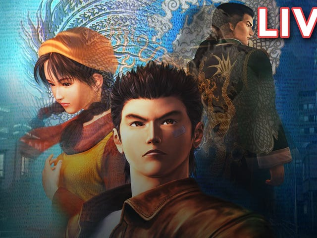 Tim and Heather are streaming Shenmue right now on our Twitch channel