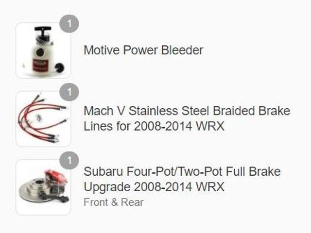 WRX on blocks update V: MASSIVE brake upgrade on the way!!