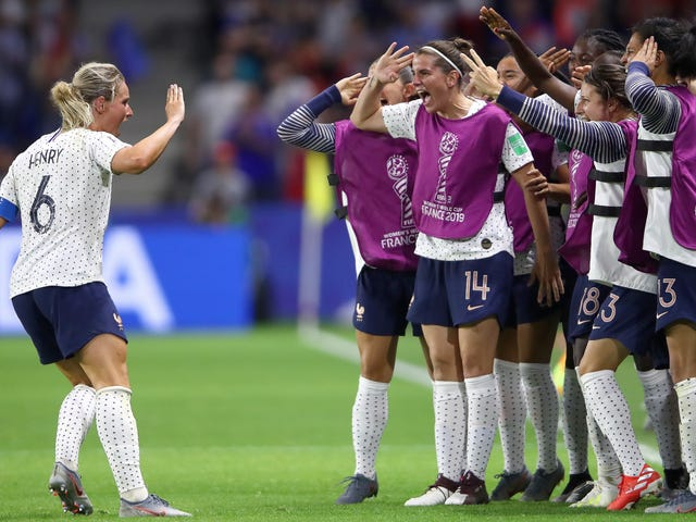 France Outlasts Brazil's Tired Old Legs To Advance To The Quarterfinals With A 2-1 Victory
