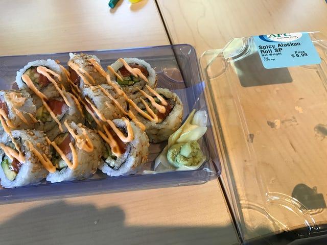 """Cosa pensa OPPO di """"sushi"""" al negozio di alimentari"""