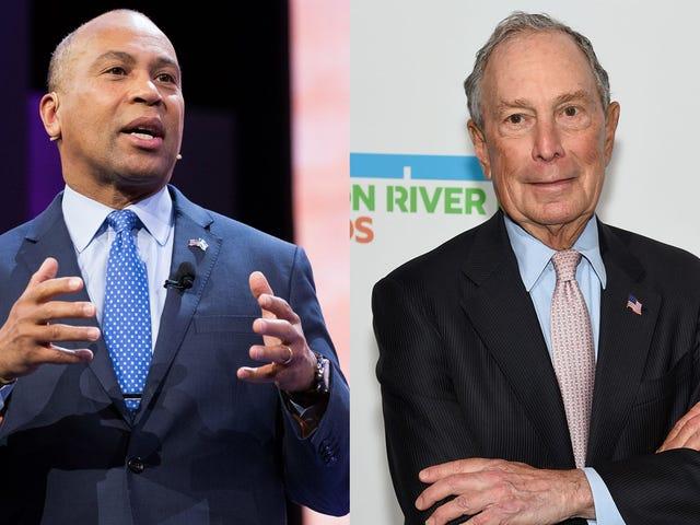 Saya telah mendapat soalan yang sangat penting untuk Deval Patrick dan Michael Bloomberg