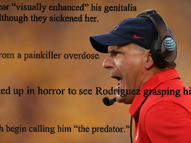 "Former Assistant Says Rich Rodriguez Grabbed His Penis In Front Of Her, Was Nicknamed ""The Predator"""