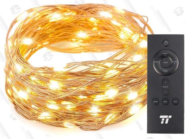 Dale un toque especial a tus decoraciones navideñas con estas tiras de luces de cobre por solo $8