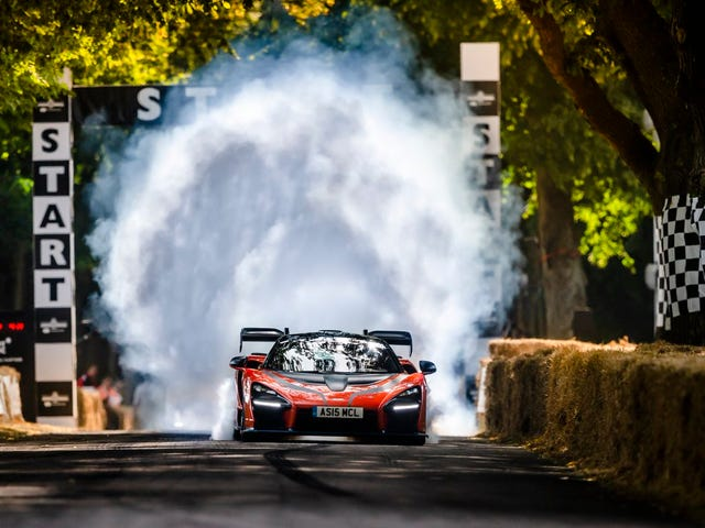 Bruno Senna Rips An Awesome Burnout In A Senna At Goodwood