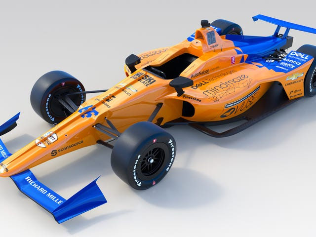 Here's the Orange McLaren Fernando Alonso Will Take to the Indianapolis 500 This Year