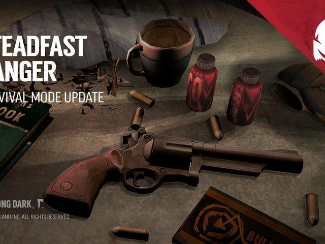 """Snowy survival game De nieuwste update van The Long Dark, """"Steadfast Ranger,"""" voegt een nieuw wapen toe, de revolv"""