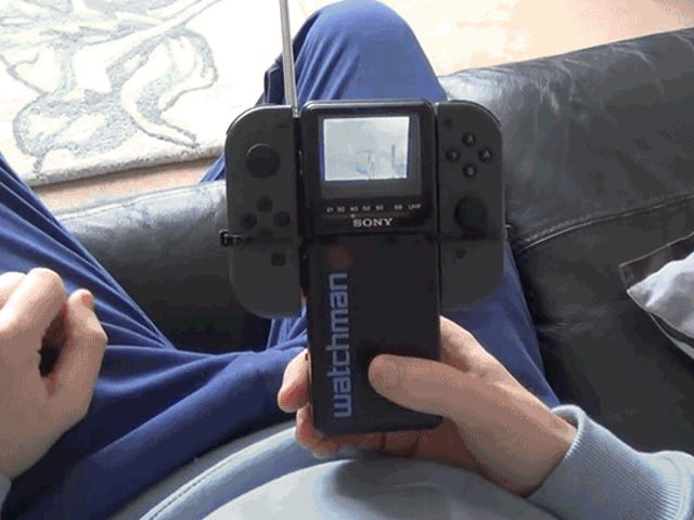 Clever Hacker Got His Nintendo Switch to Work On an 80s Sony Watchman Without Any Wires