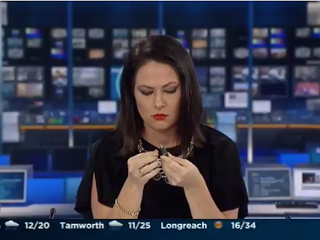 This News Anchor Reacts Delightfully After Forgetting She Is On the Air