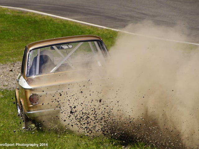 Just a little wide.... Vintage Racing - BMW 2002