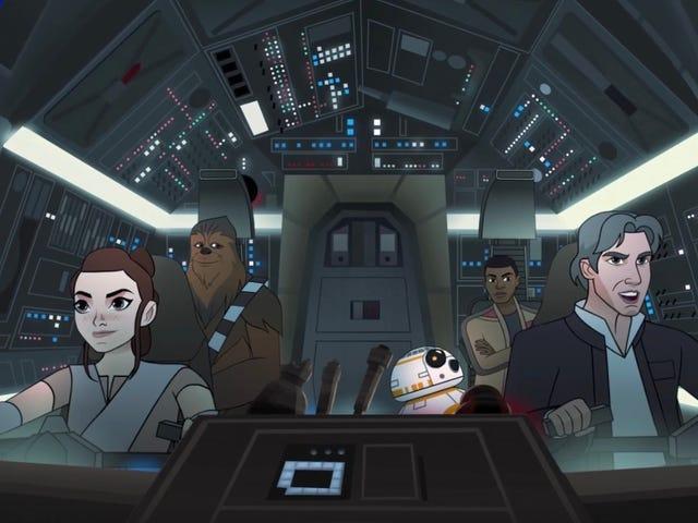 千年猎鹰几乎在新的<i>Star Wars: Forces of Destiny</i>爆发<i>Star Wars: Forces of Destiny</i>短小
