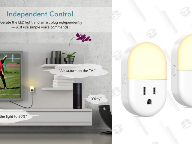 These Cheap Smart Plugs Include Smart Night Lights, Which Makes a Ton of Sense
