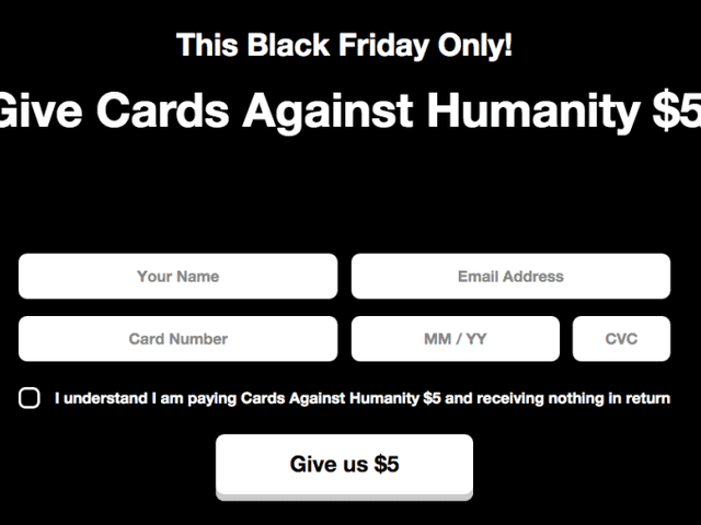 "Cards Against Humanity's Black Friday ""Deal"" Is the Best Worst Thing Ever"