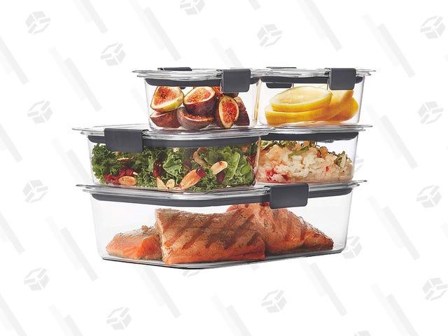 Salva i tuoi avanzi (o pasti pronti) con stile con questi contenitori a tenuta stagna scontati in gomma