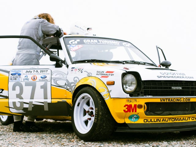 Watch This 11,000 RPM Toyota Starlet Nearly Get Bucked Off Mount Washington