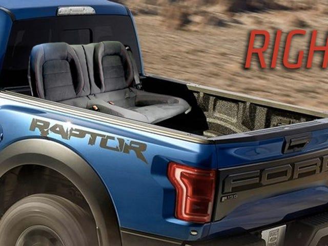 Den nye Ford GT350R bagsædeplads bør virkelig være på raptoren