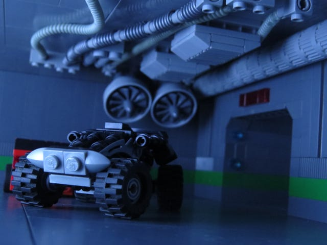 The next chapter to my Lego comic series is basically just a car chase. Here's an unedited shot.