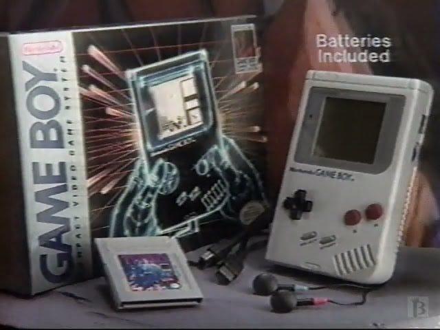늦은 TAY 레트로 : Nintendo Game Boy |  게임 보이 테트리스와 함께 |  TV 광고 (NA)