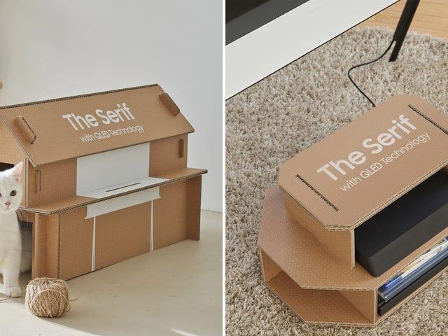 सैमसंग ने अपने टीवी बॉक्सों को कैट हाउस और मनोरंजन केंद्रों में आसानी से परिवर्तित किया