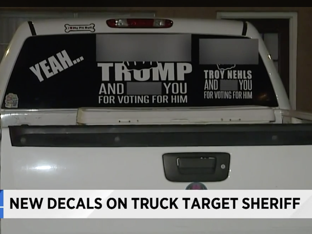 Texas Motorist With Profane Anti-Trump Sticker on Truck Adds Local Sheriff to Display After Being Arrested on Outstanding Warrant