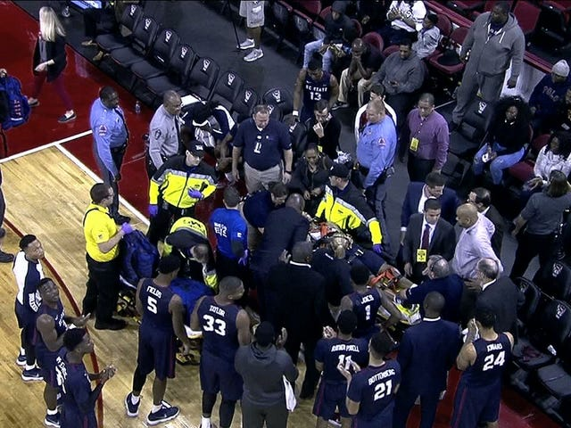 SCSU-NCSU Game Delayed After Bulldogs Player Collapses On Bench, Is Given CPR