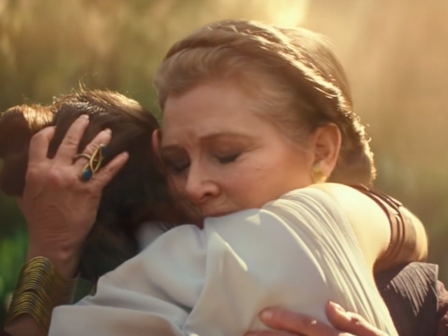 J.J. Abrams Discusses How General Leia and Carrie Fisher Live on in The Rise of Skywalker